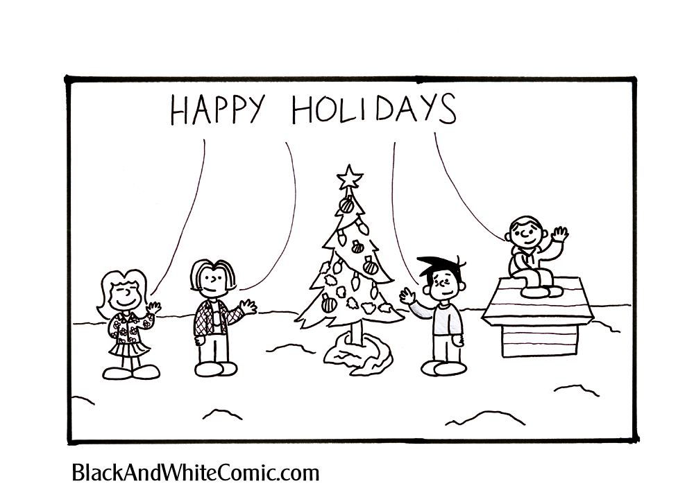 Black and White Comic