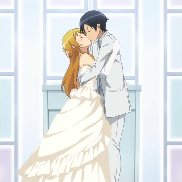 oreimo-wedding-kiss