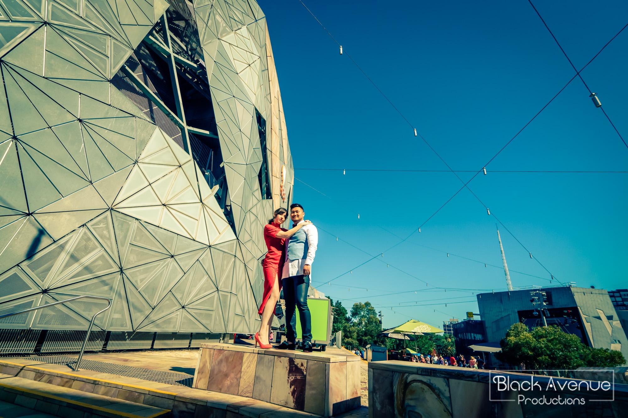 墨爾本婚拍 聯邦廣場 Federation Square