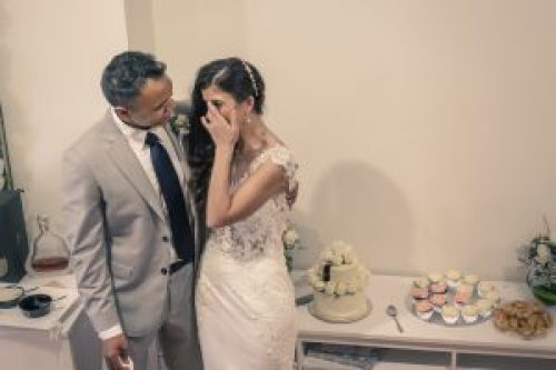 emotional bride cry at her wedding in Melbourne by 2 photographers