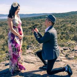 Surprise proposal at the Grampians National Park in Australia