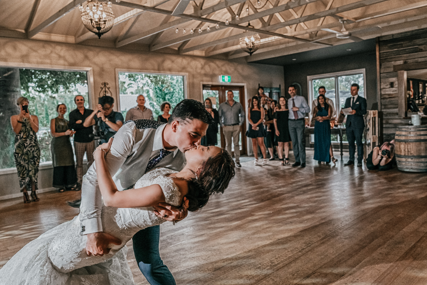 Melbourne married couple first dance at Immerse Yarra Valley wedding reception