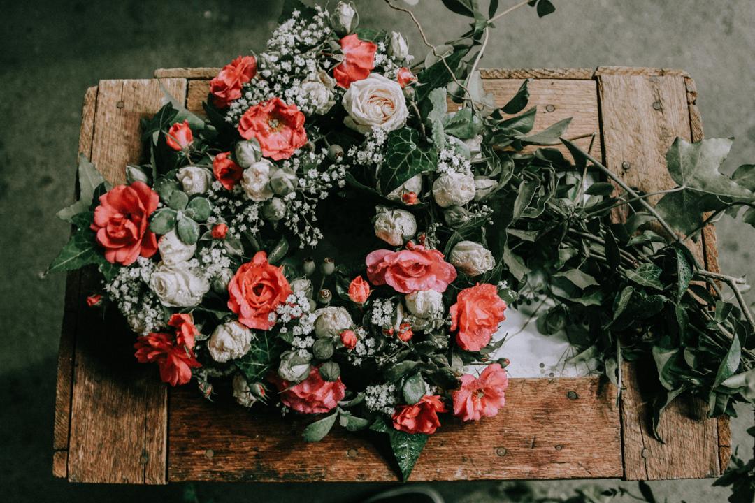 greenery rustic wedding flower bouquet