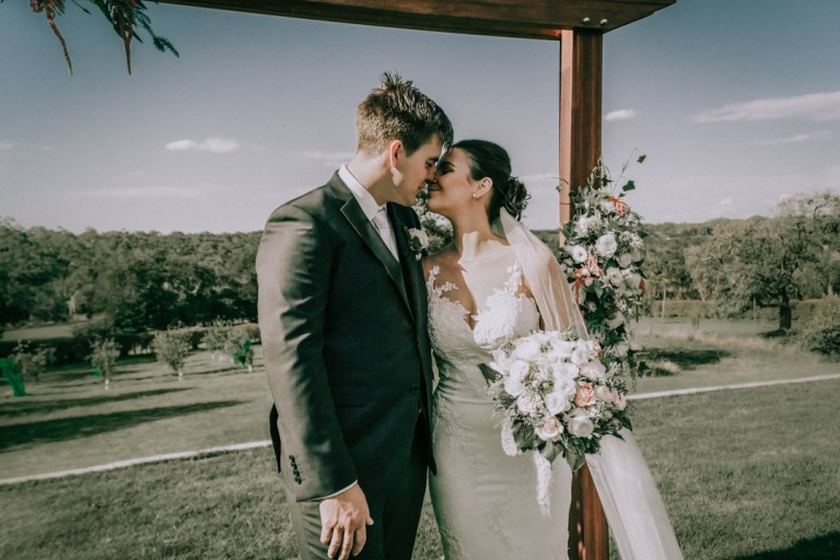 wedding ceremony at The Briars Mornington Peninsula rustic wedding videos 1