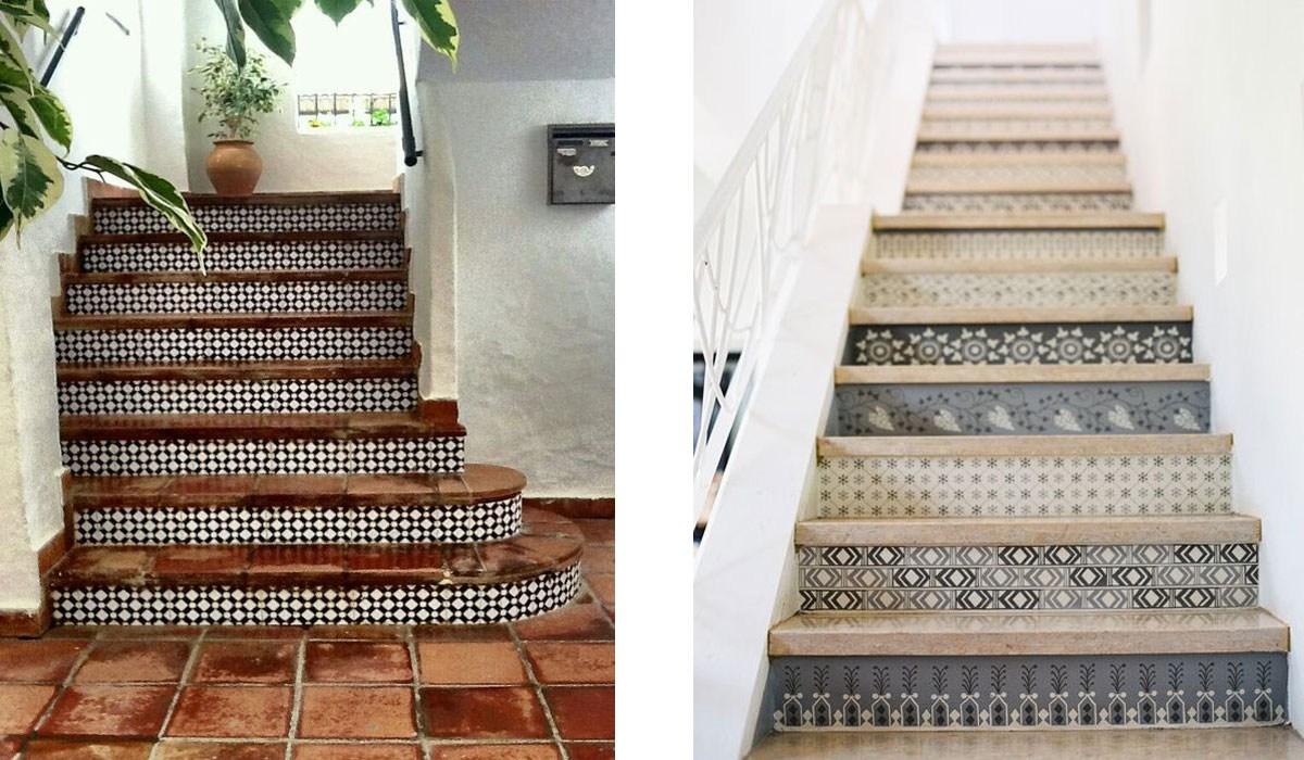 Looks We Love Tiled Stair Risers   Stair Riser Tiles Designs