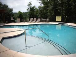 The pool at Black Bear Lodge