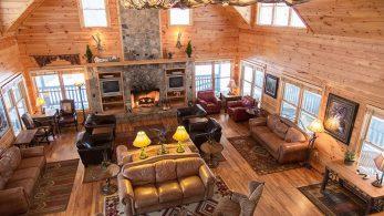 Inside the main lodge
