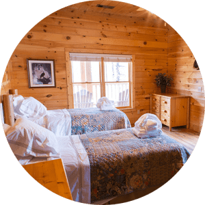 Residential beds at Black Bear Lodge