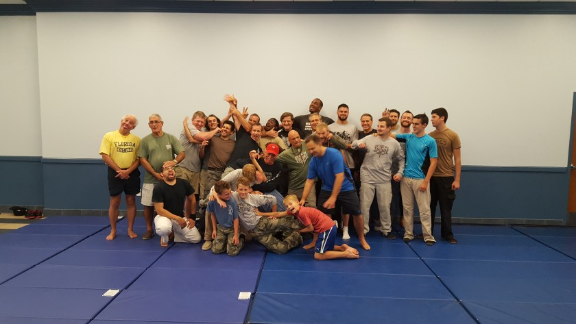 Having some fun posing for pictures after the seminar
