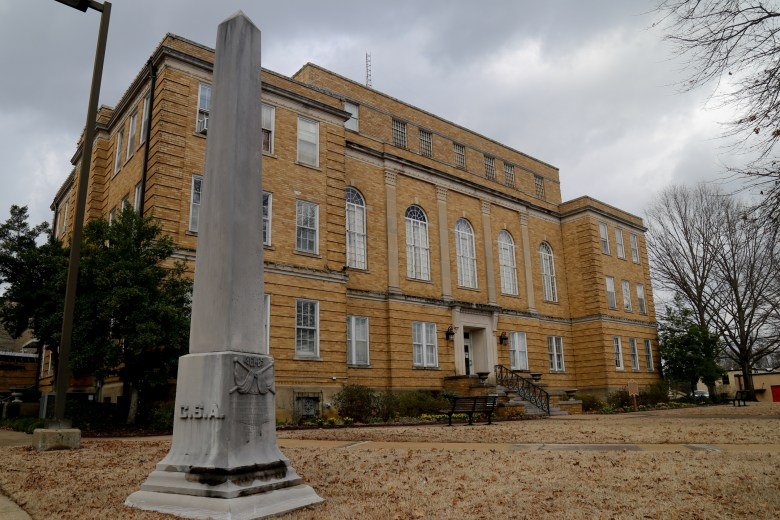 The Faulkner County Courthouse is located in Conway, Arkansas, the county seat. The fourth floor was used as a jail.