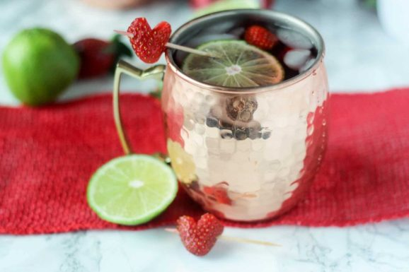 Strawberry Moscow Mule - Wine and Mommy Time