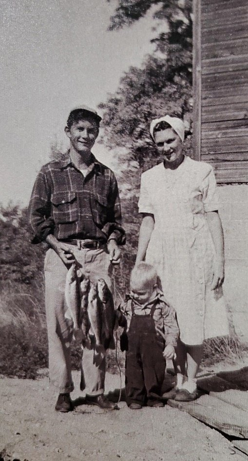 Joy's parents and my oldest brother showing off their catch of the day!