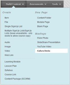 Build Content - Kaltura Media