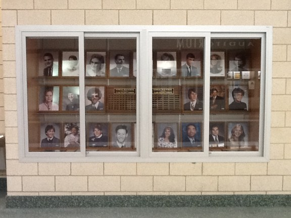 Recessed Display Case - Donegal High School