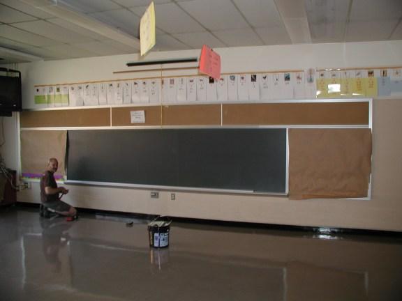 Overboard - Preparing the Old Chalkboard