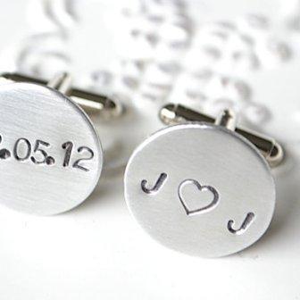 Boutons manchette personnalisés - personalized cufflinks, 60.20€