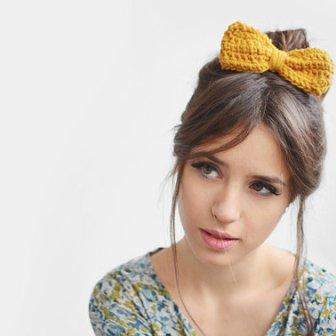 Noeud jaune - yellow bow, 9€
