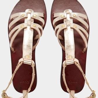 Spartiates dorées - gold sandals, 23.99€