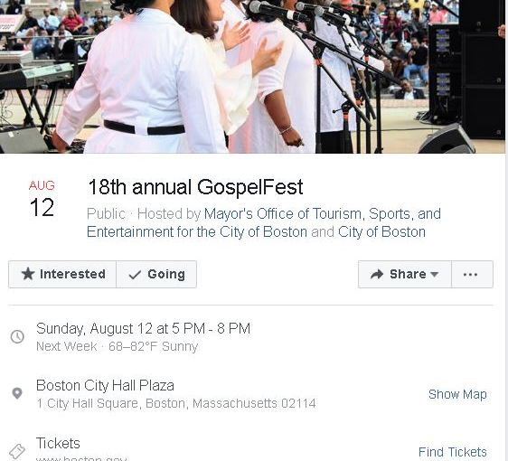 Boston Gospel Fest