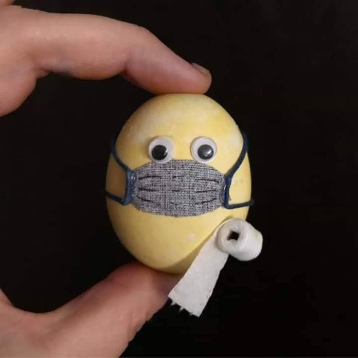 COVID_19 Ready Easter Egg