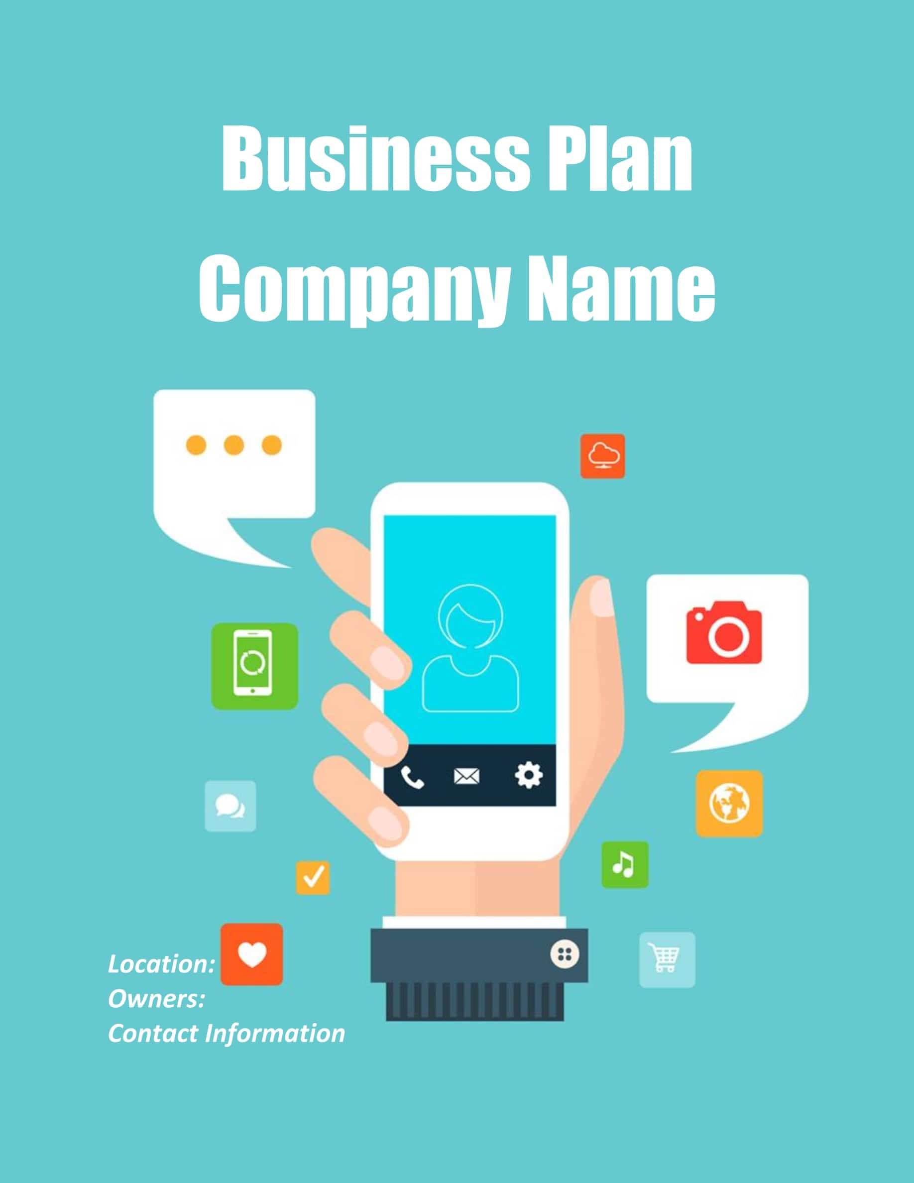 Mobile App Business Plan Template Sample Pages