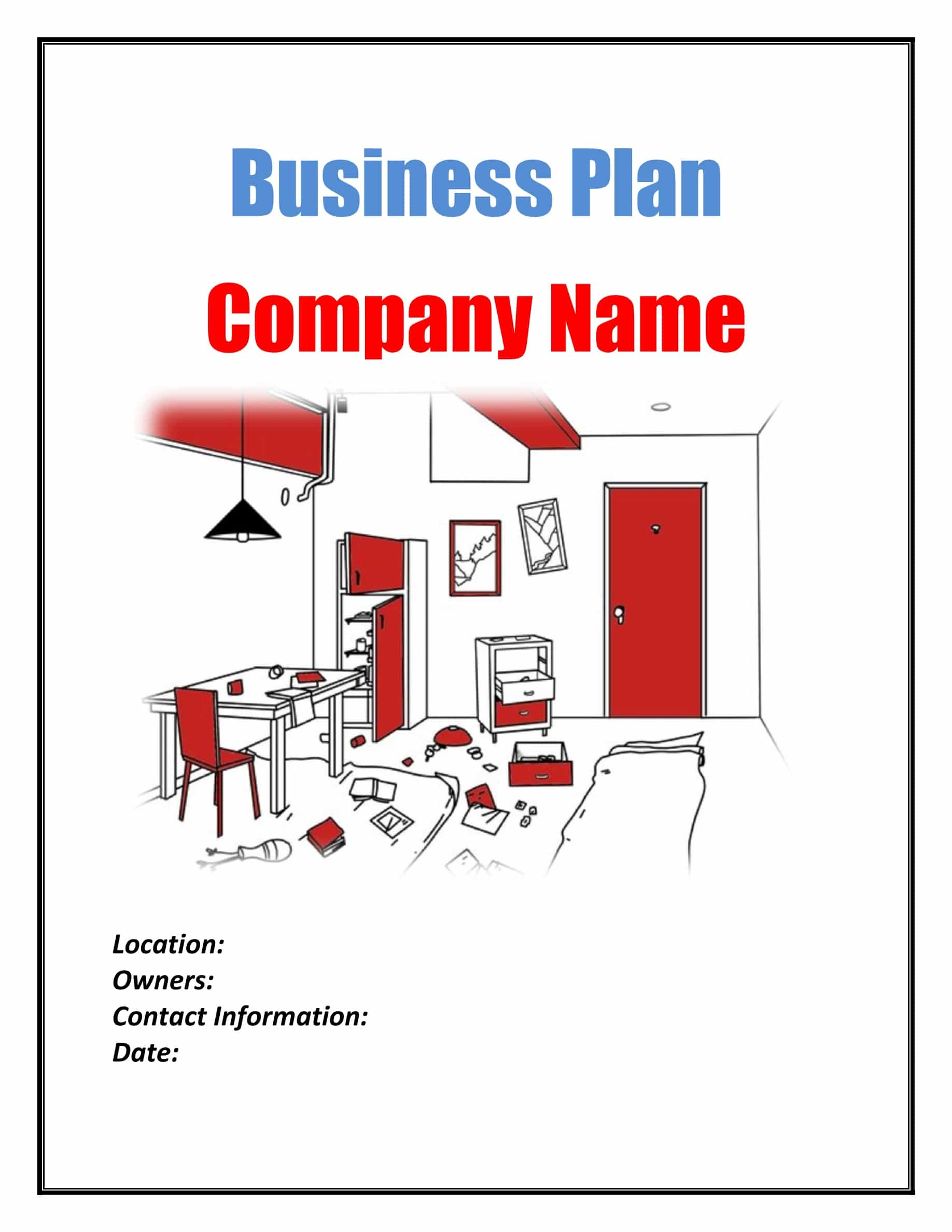 Mystery Room Business Plan Template Sample Pages