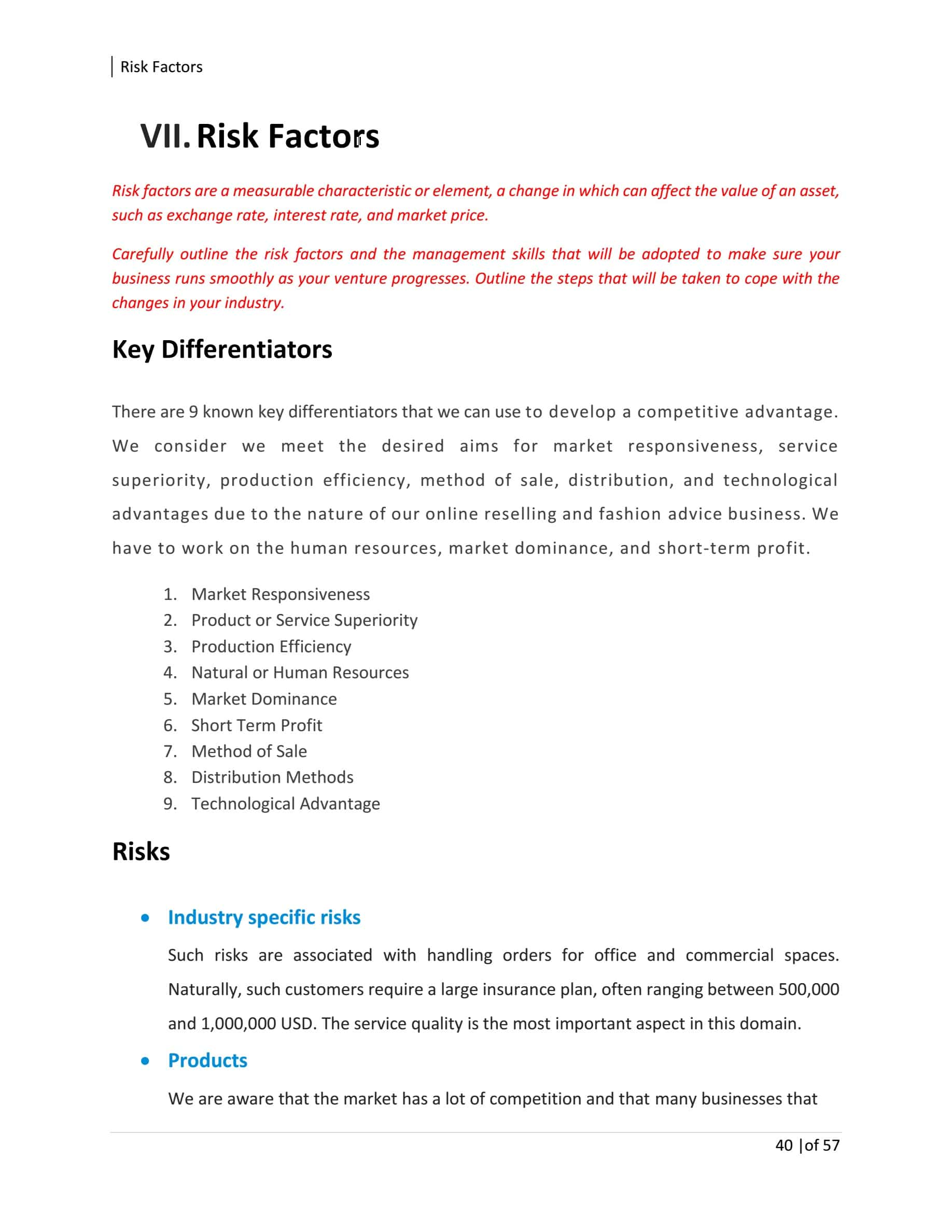 Commercial Cleaning Business Plan Template Sample Pages
