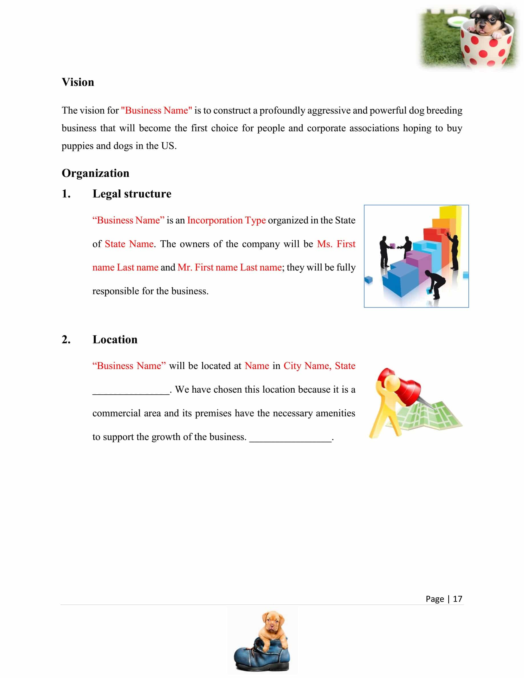 Dog Breeding Business Plan Template Sample Pages