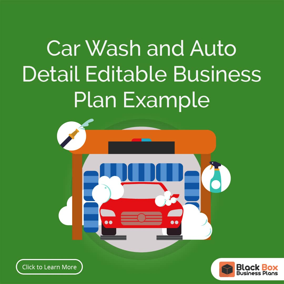 Car Wash Business Plan Template Physical Location