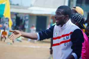 Head Coach Azeez Mustapha dishing out tactical instructions during the game