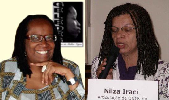 Sueli Carneiro and Nilza Iraci, two prominent activists of the Geledés Black Women's Institute