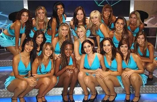 Dancers from the Domingão do Faustão Sunday evening variety show