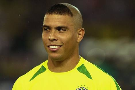 Ronaldo from the 2002 World Cup wearing the infamous haircut