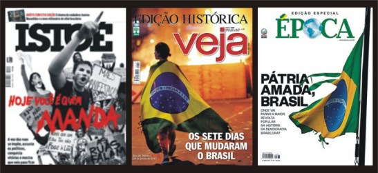 For the second consecutive week, Brazil's main magazines devoted coverage to the mass demonstrations that rocked the coutnry