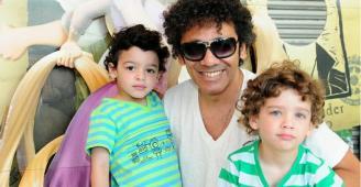 Simoninha with children Tom and Gabriel