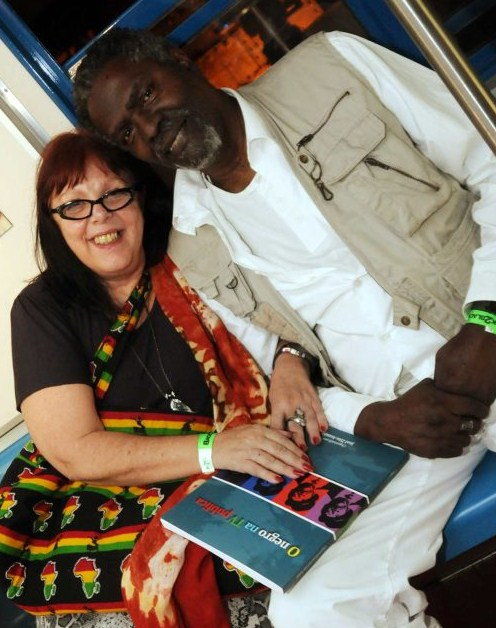 Late, great Afro-Brazilian actor/filmmakerZózimo Bulbul and wife Biza Vianna
