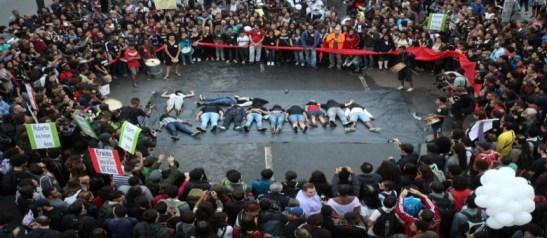 Community protest against massacre