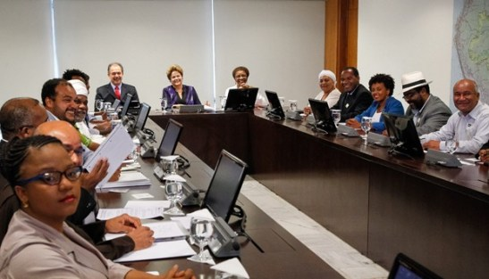 President Dilma Rouseff met with 19 representatives of black organizations to discuss policies for the advancement of racial equality