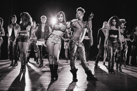 Singer Anitta with her backing dancers