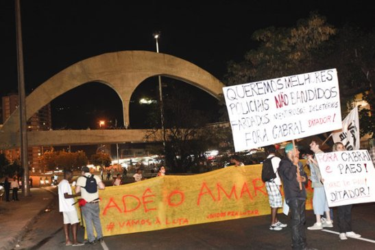 In Rio this week, protestors interrumpted rush hour traffic on the Lagoa-Barra highway near the Rocinha favela where Amarildo lived