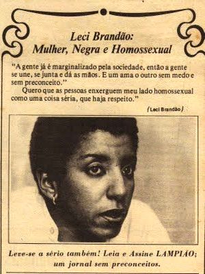"""Leci Brandão: Woman, black and homosexual - """"We are already marginalized by society, so we have to unite, come together and raise our hands. And love each other without fear and without prejudice. I want people to see my homosexual side as a serious thing for which there is respect."""""""