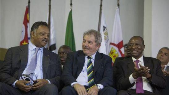Jesse Jackson, former President Lula da Silva and President of Guinea, Alpha Condé