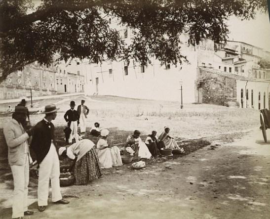 Praça Castro Alves (Castro Alves Square) in Salvador, Bahia, cerca 1875