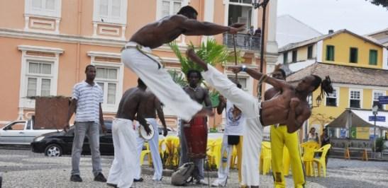 Capoeira in the Terreiro de Jesus in Salvador, Bahia