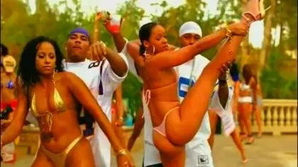 "Still from rapper Nelly's infamous video ""Tip Drill"""
