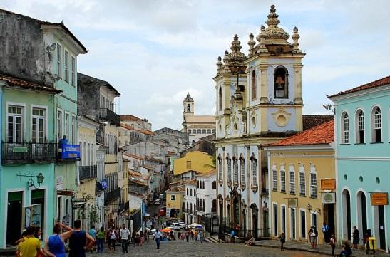 Historic Pelourinho district in Salvador, Bahia