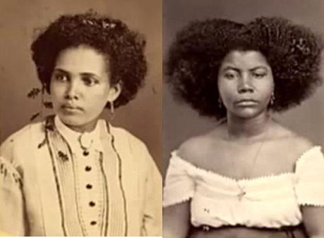Two women in photo taken in Recife, Pernambuco in 1869