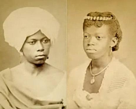 Photo of two women in Rio de Janeiro in 1870