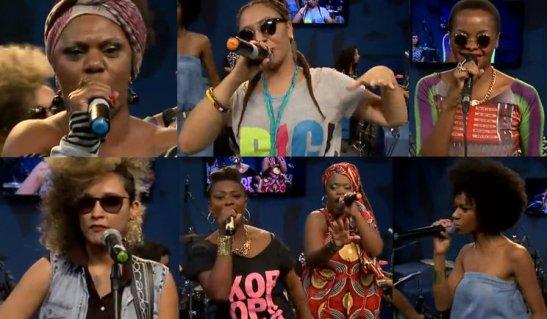 """Stills from """"Divas do Hip Hop"""" show at Estúdio Showlivre"""
