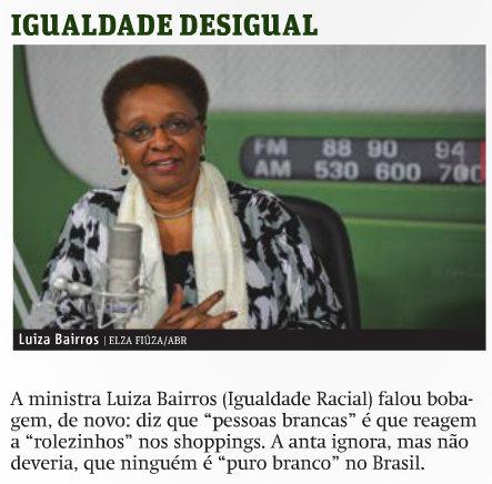 "Cláudio Humberto's column from the January 17th Brasília edition of ""Jornal Metro"""